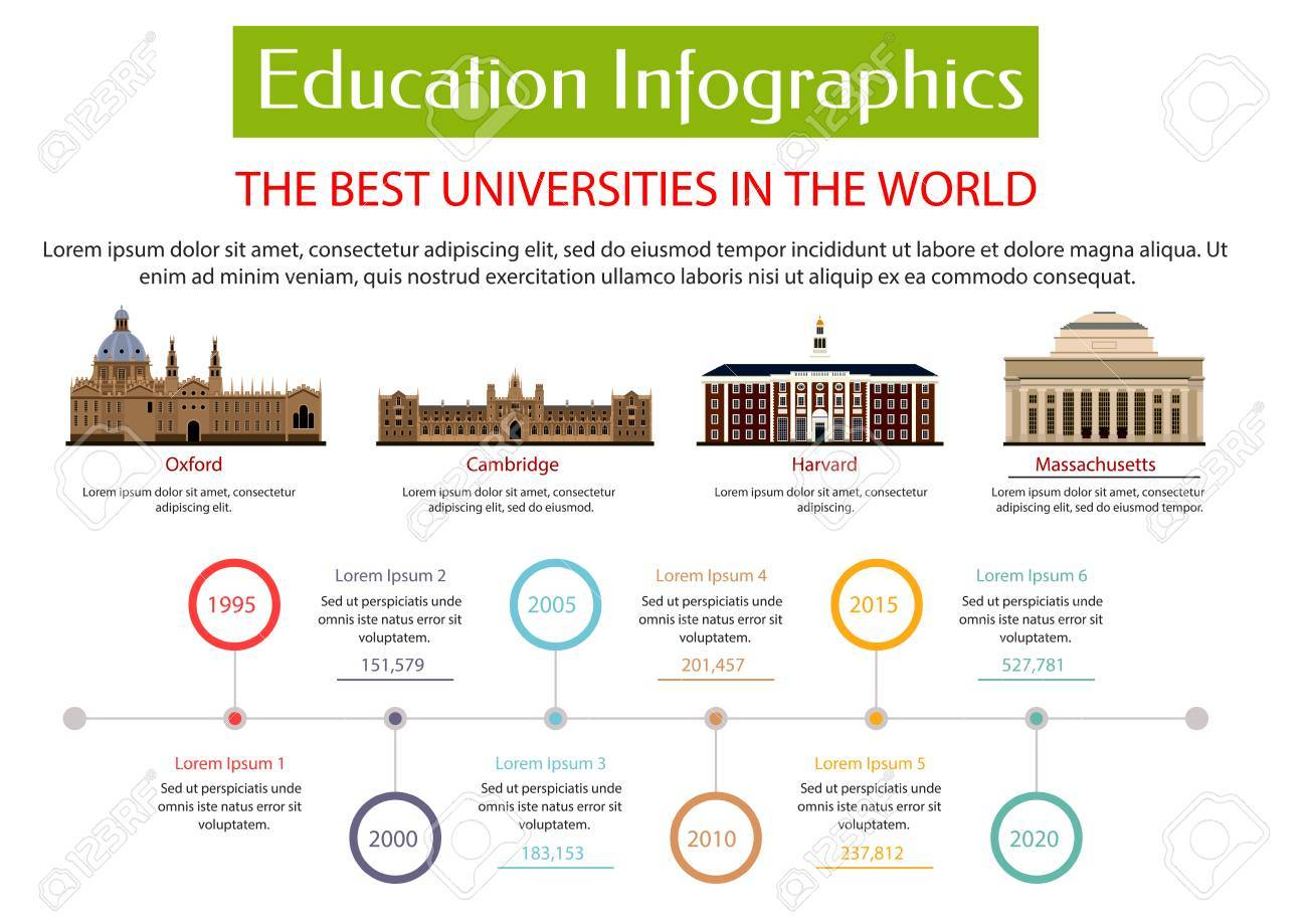 Education Infographic Placard Template. Best Universities In ...