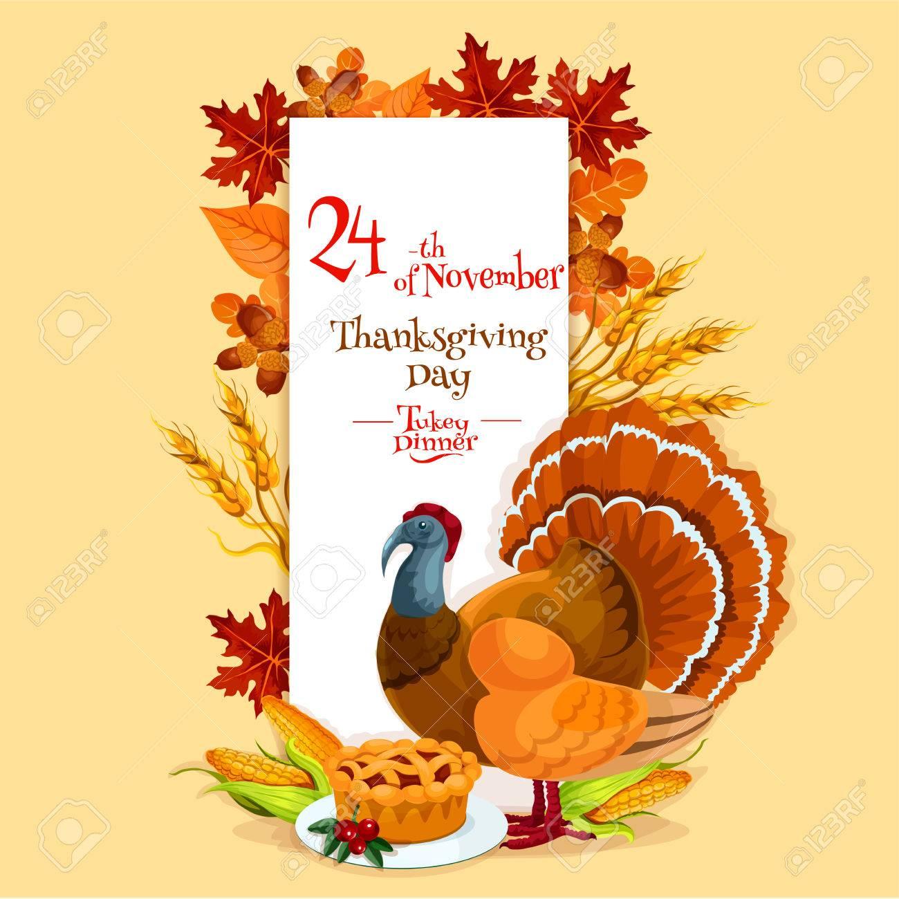 Plantilla De Tarjeta De Invitación De Día De Acción De Gracias