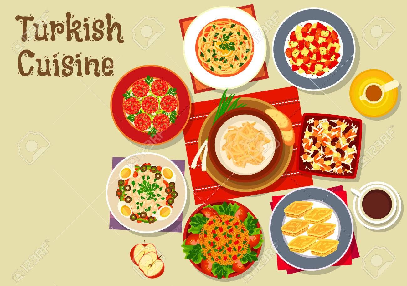 Türkische Küche Festliches Abendessen Ikone Der Frikadelle Kofta ...