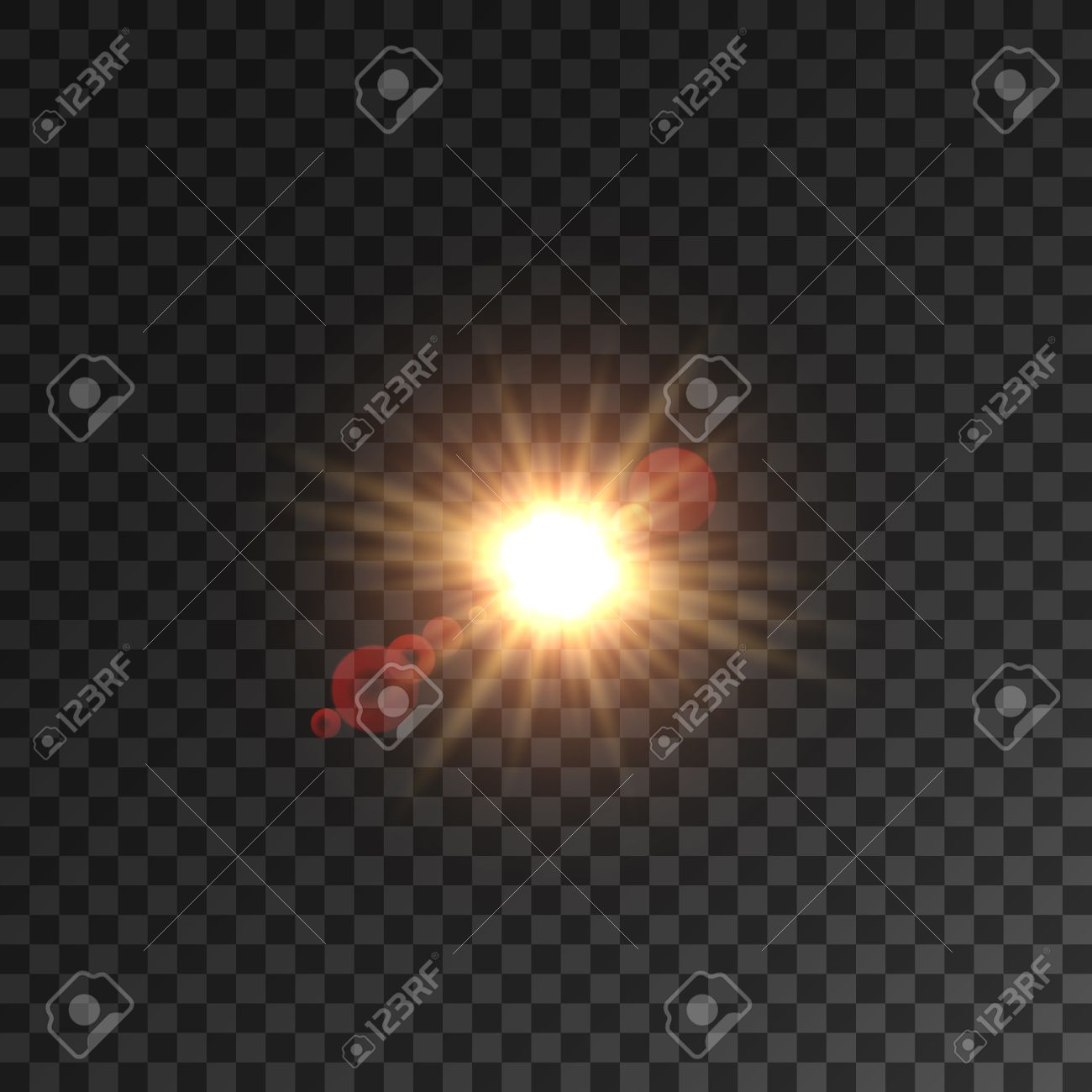 Light Of Sun With Lens Flare Effect On Transparent Background ... for Sun Light Effect Hd  183qdu
