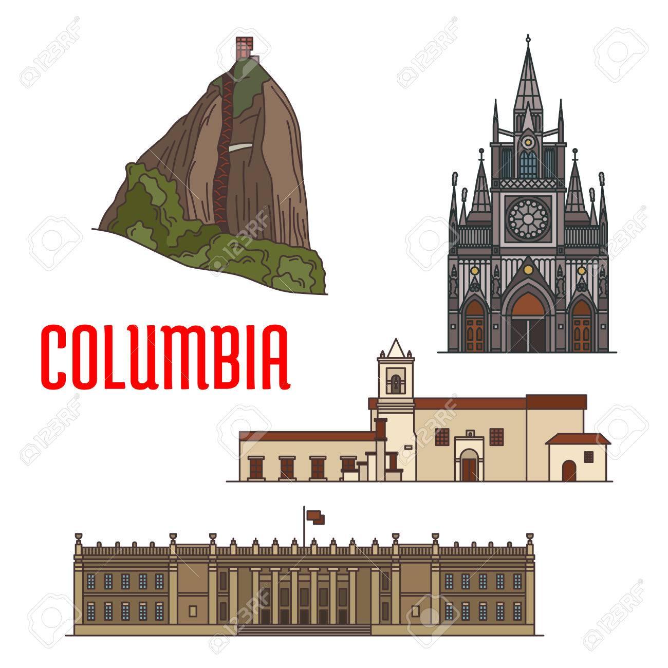 Arquitectura Atracciones Turísticas De Colombia Piedra Del Peñol Roca Iglesia De La Iglesia De La Merced Santuario De Las Lajas Capitol Colombia