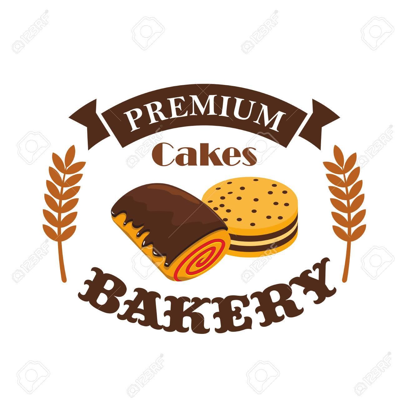 Bakery, Pastry Shop Emblem, Vector Patisserie Business Label ...