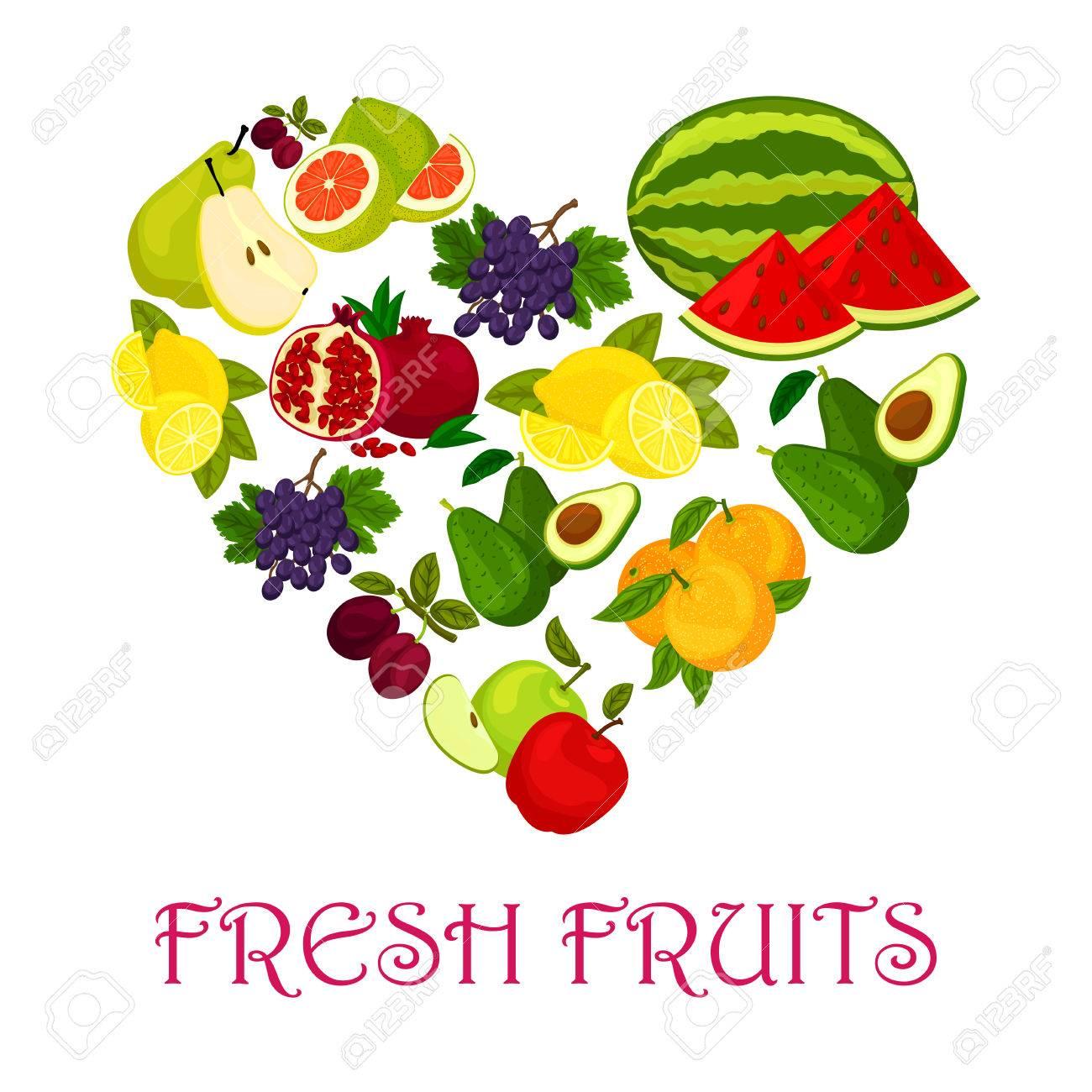 Fresh fruits heart symbol of watermelon orange and avocado fresh fruits heart symbol of watermelon orange and avocado pomegranate plum biocorpaavc