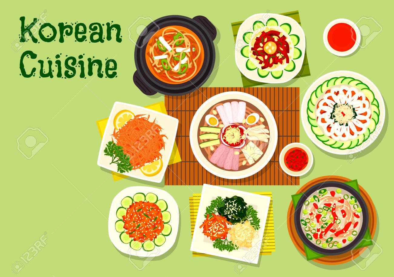 koreanische küche asiatische gerichte symbol mit pyongyang kalte