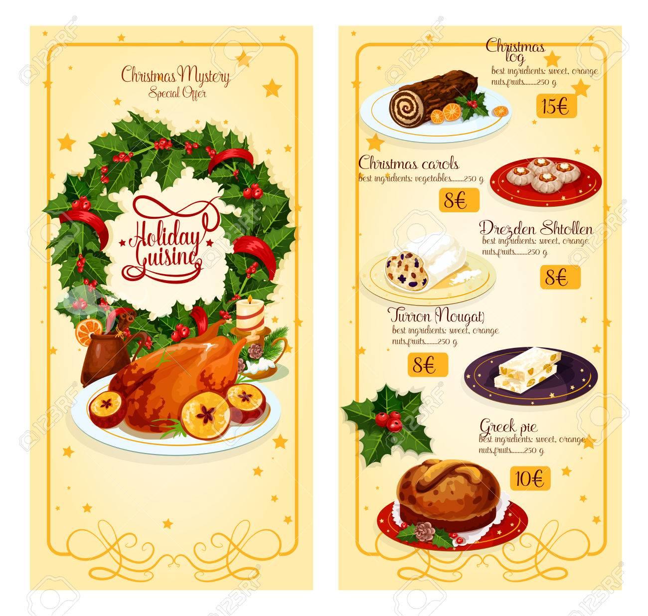 Prix Dinde De Noel Noël Menu Vacances Restaurant Avec Un Design Prix Du Modèle