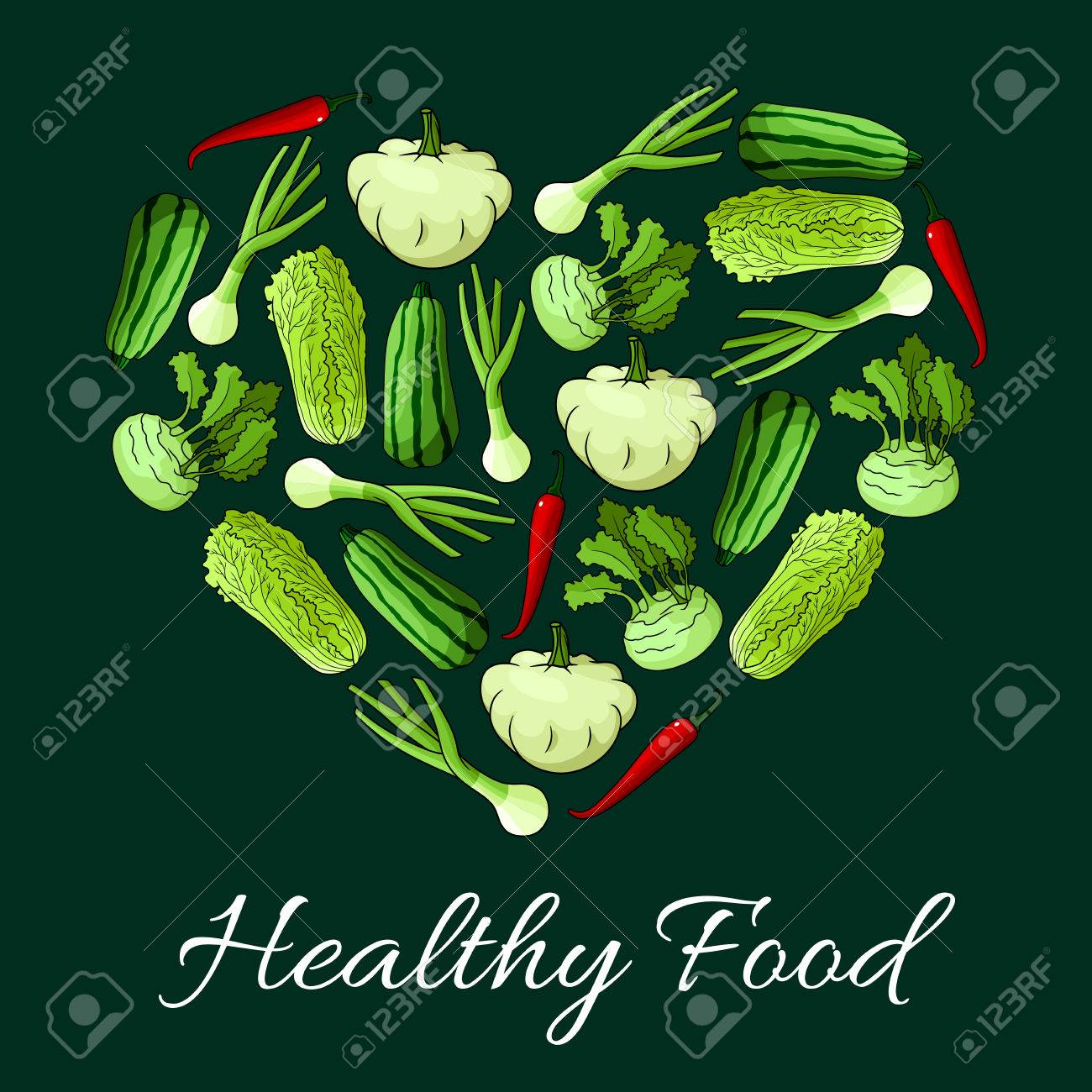 veggies in shape of heart vegetarian healthy food nutrition