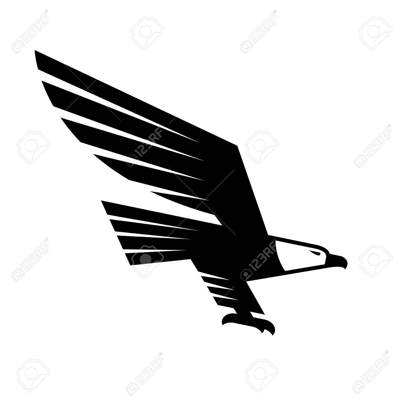 Flying eagle isolated sign vector symbol of black falcon or flying eagle isolated sign vector symbol of black falcon or hawk heraldic emblem or biocorpaavc Images