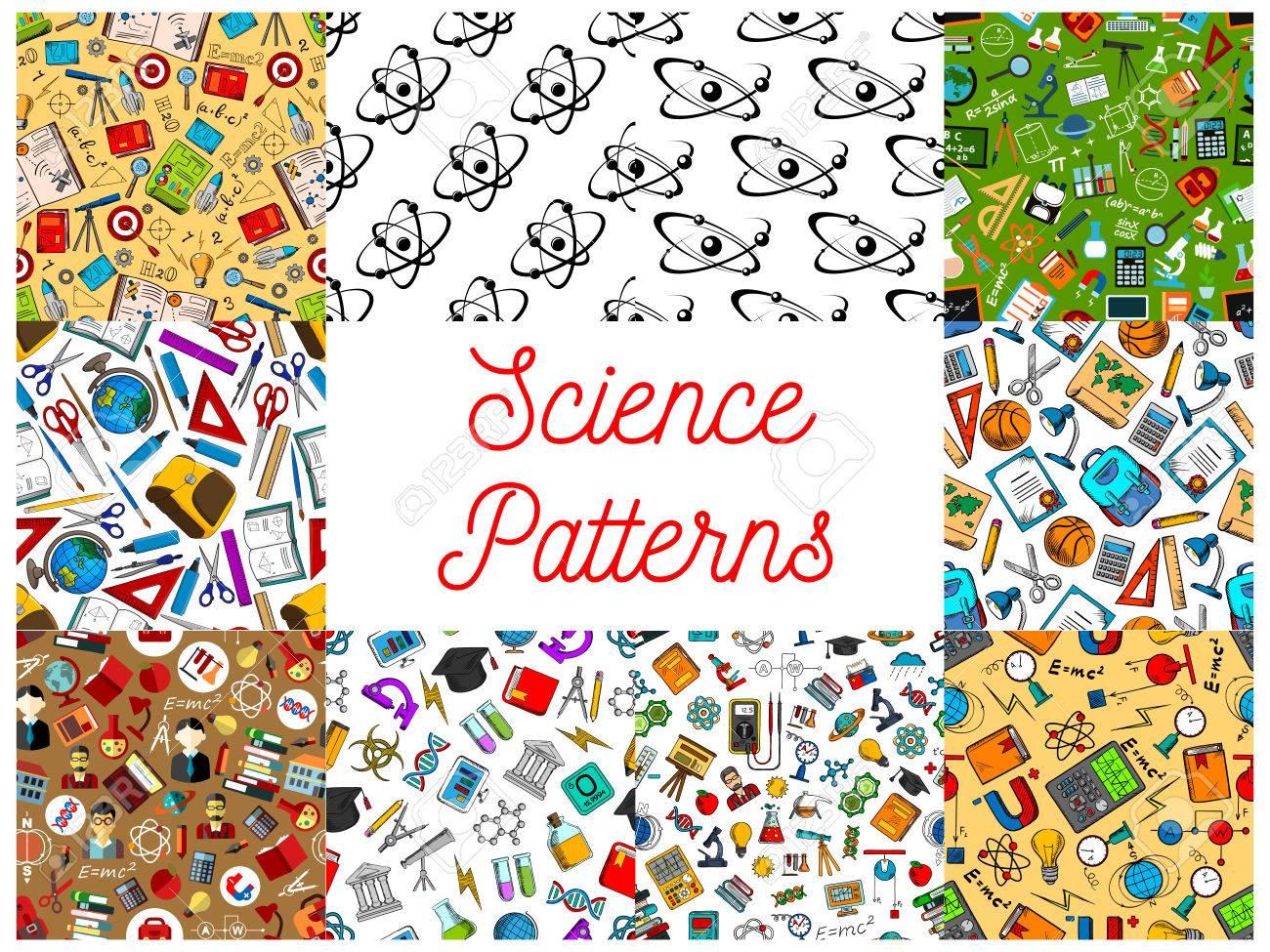 Patrones De Costura De La Ciencia. Modelo Del Vector De Objetos Y ...