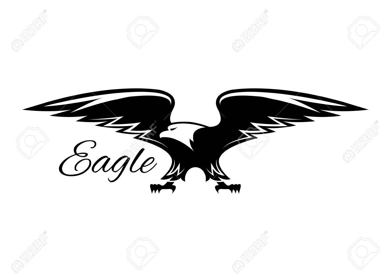 American eagle isolated emblem vector symbol of black griffin american eagle isolated emblem vector symbol of black griffin falcon or hawk heraldic biocorpaavc Images