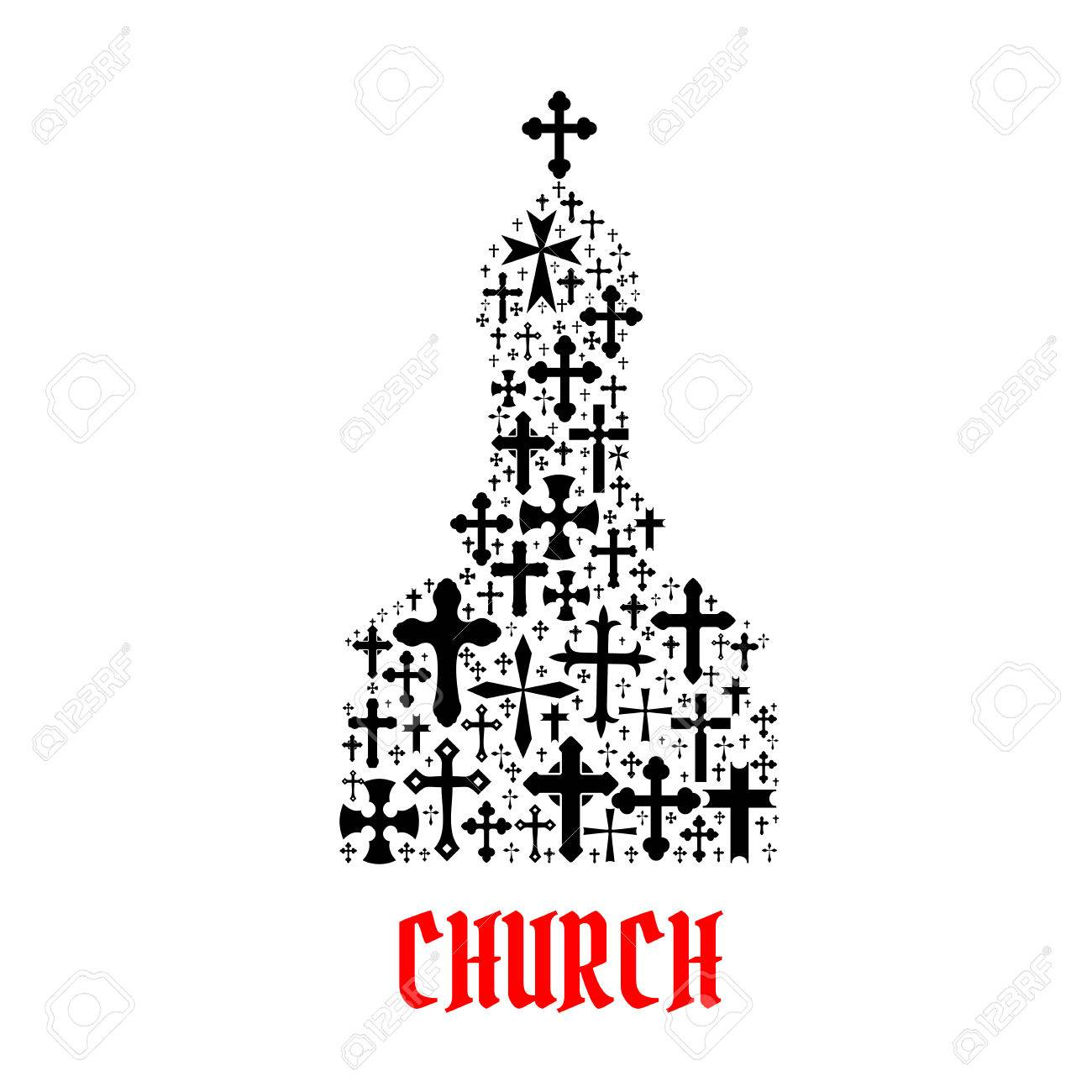 Church icon religion cross christianity symbols in shape of church icon religion cross christianity symbols in shape of temple monastery for religious decoration buycottarizona Gallery
