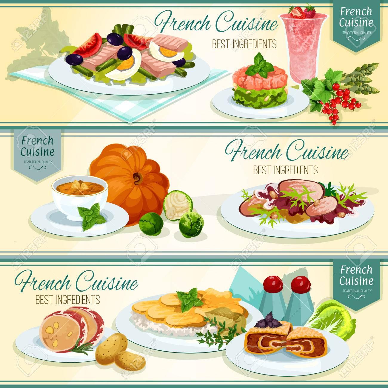 Cuisine Francaise Banniere Alimentaire Populaire Pommes De Terre