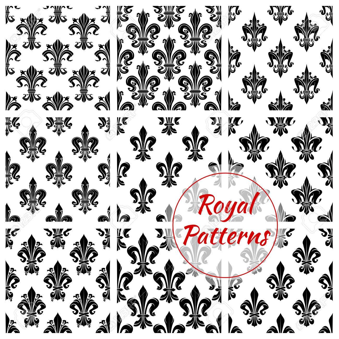 Luxueux Motif De Fleur Royale Vector Seamless Ensemble De Lys