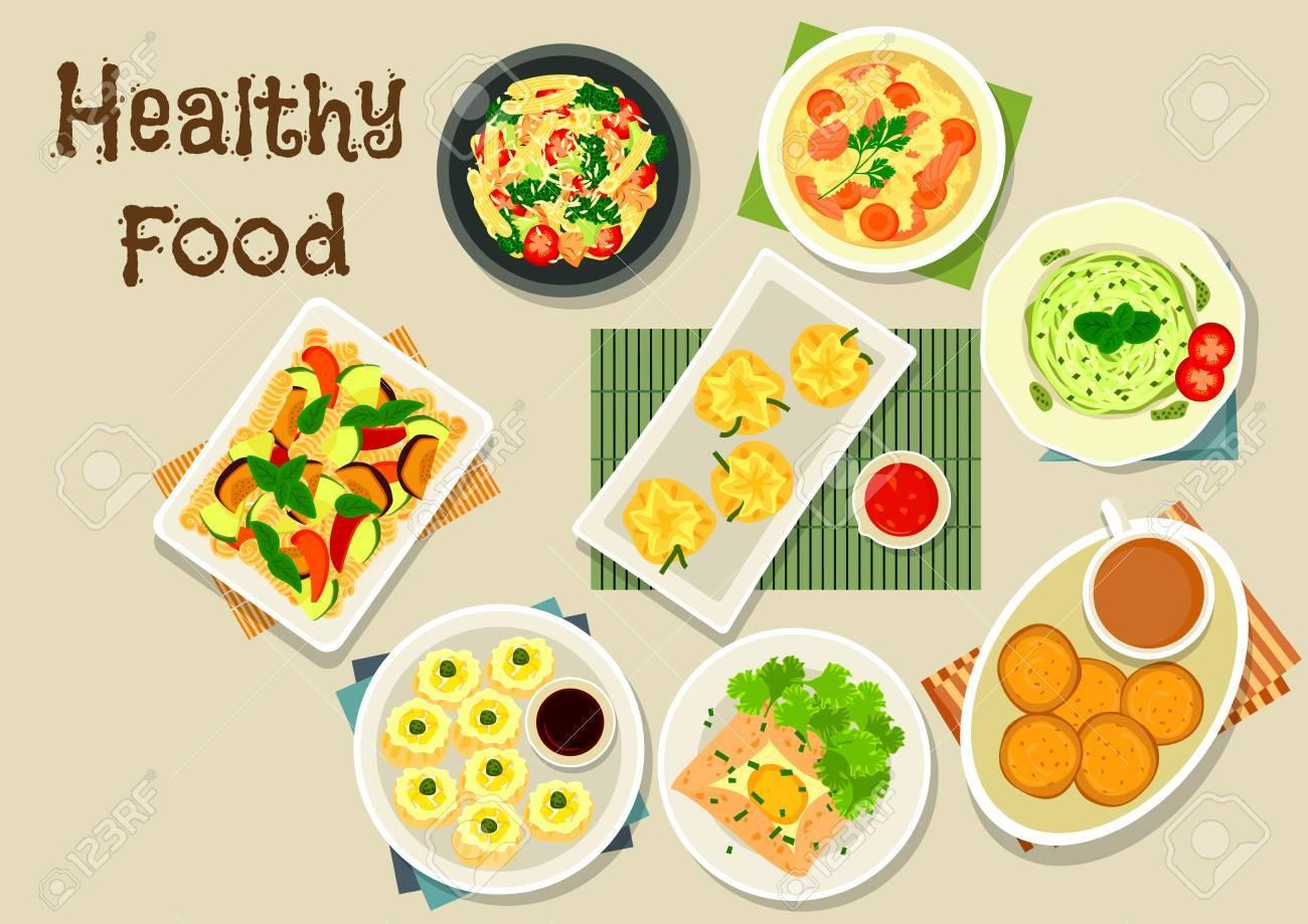 Italienische Und Chinesische Küche Symbol Von Pasta Mit Gemüse Und