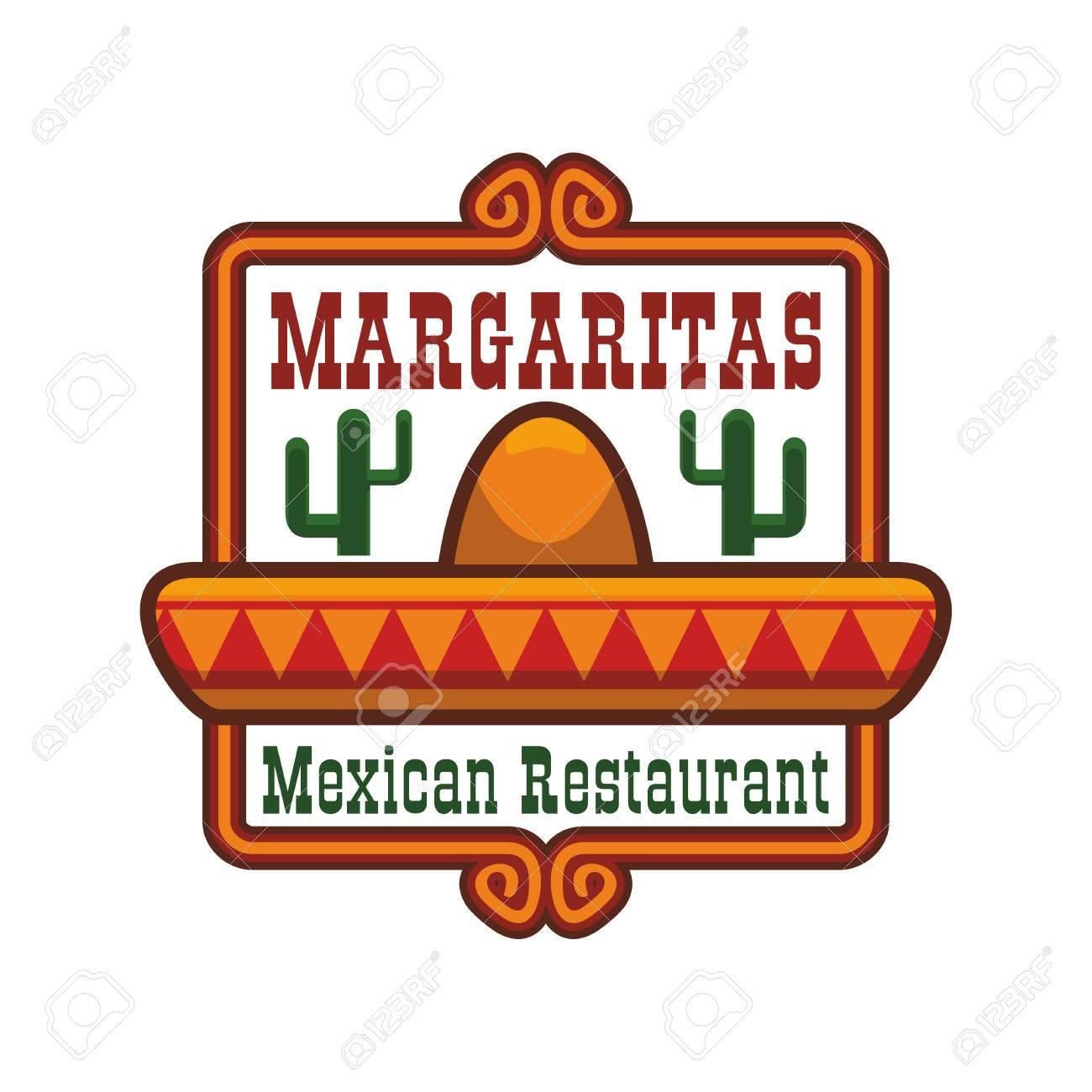 Mexikanische Küche Emblem. Vector Isolierte Symbol Oder Abzeichen ...