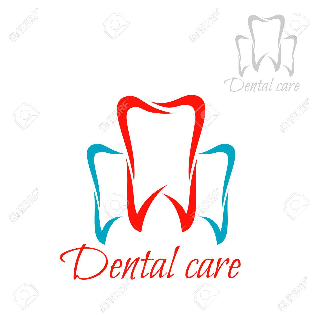 Dentistry Emblem And Tooth Icon Vector Isolated Teeth Symbols