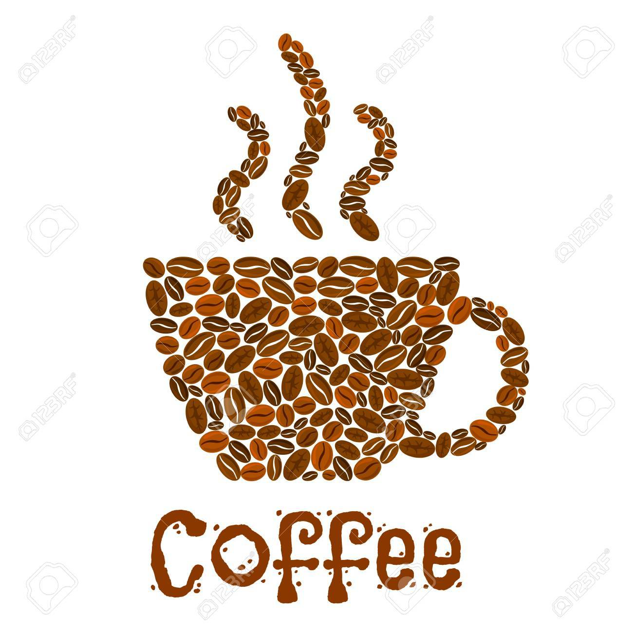 Hot Beans Coffee Of Design CupVector Shape Poster In strQdh