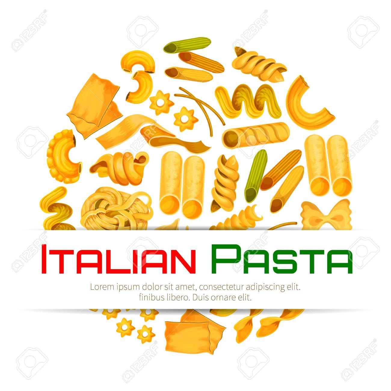 Poster für die küche  Pasta-Poster Oder Italienische Küche Menü Von Vektor-Spaghetti Und ...