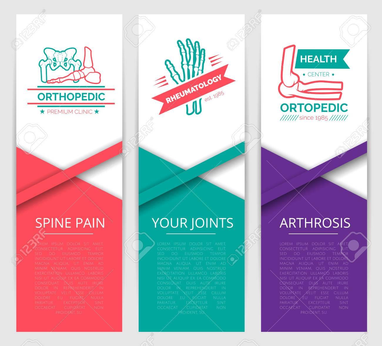 Medizinische Diagnostik Klinik Banner-Vorlage. Orthopädie Und ...