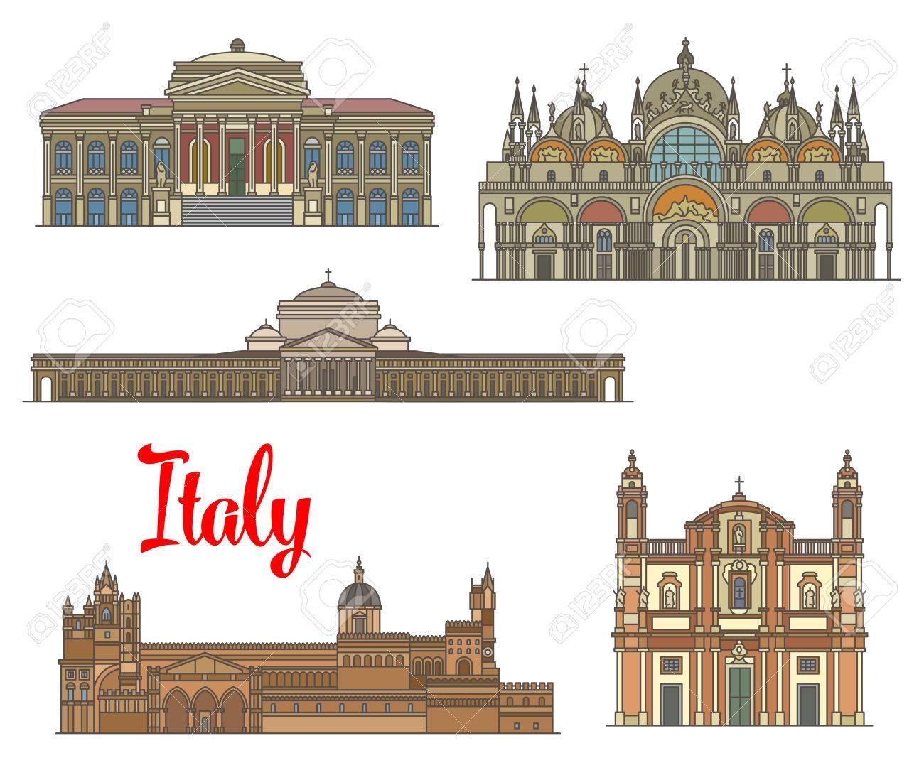 Monumentos De Viajes Italianos De Las Artes Y La Religión. Basílica ...