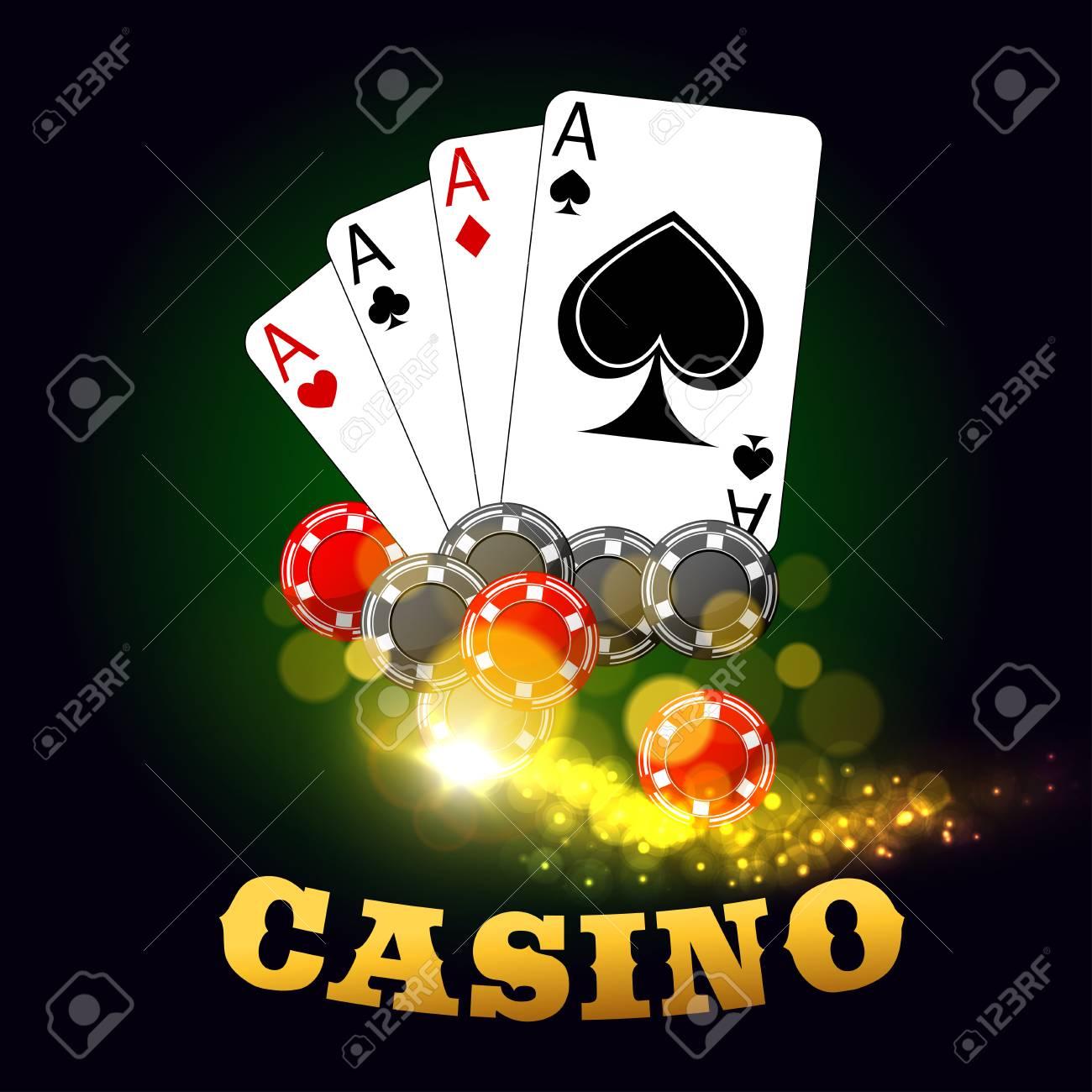 Cartel De Vector De Juego De Casino Cartas De Poker Trajes De
