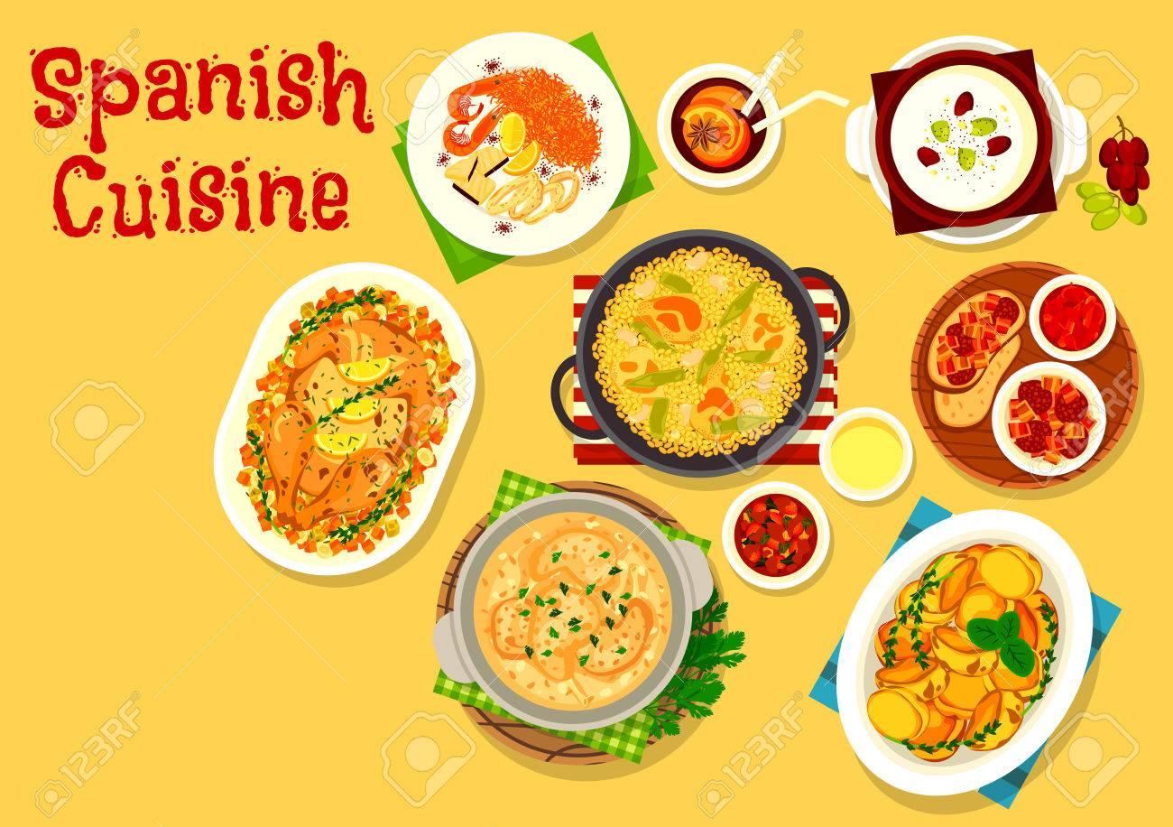 Spanische Küche Ikonen Lizenzfrei Nutzbare Vektorgrafiken, Clip Arts ...