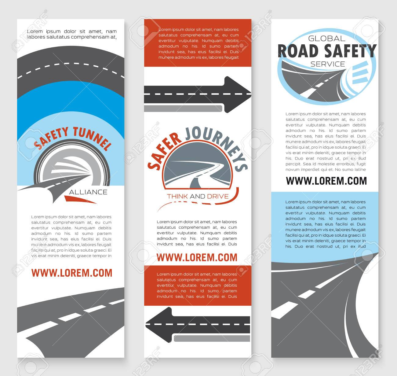 Transportation Services Travel Agency And Traffic Safety Flyer Or