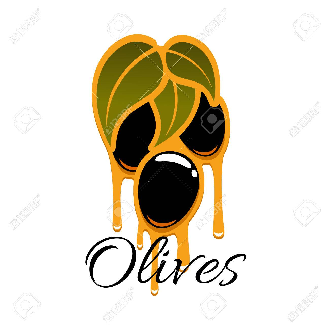 Olive oil on olives branch vector icon black ripe fruits of olive oil on olives branch vector icon black ripe fruits of olive tree bunch buycottarizona Choice Image
