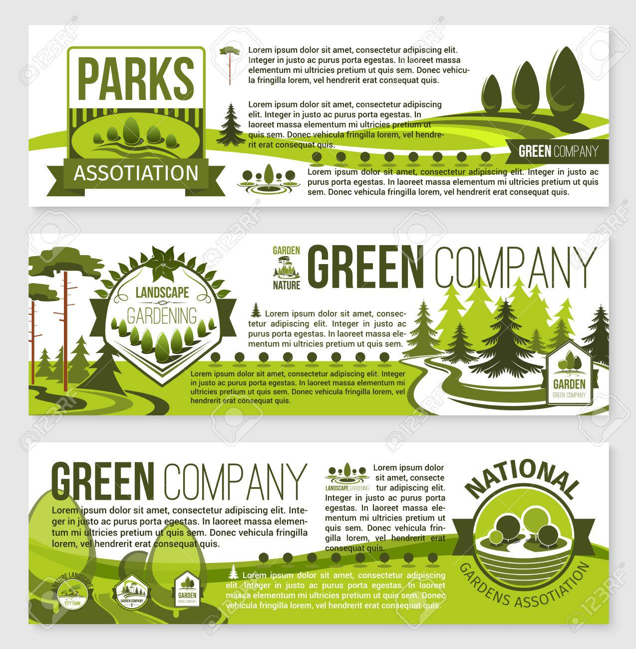 Landscaping And Gardening Banner Template Design Royalty Free Cliparts Vectors And Stock Illustration Image 75310095