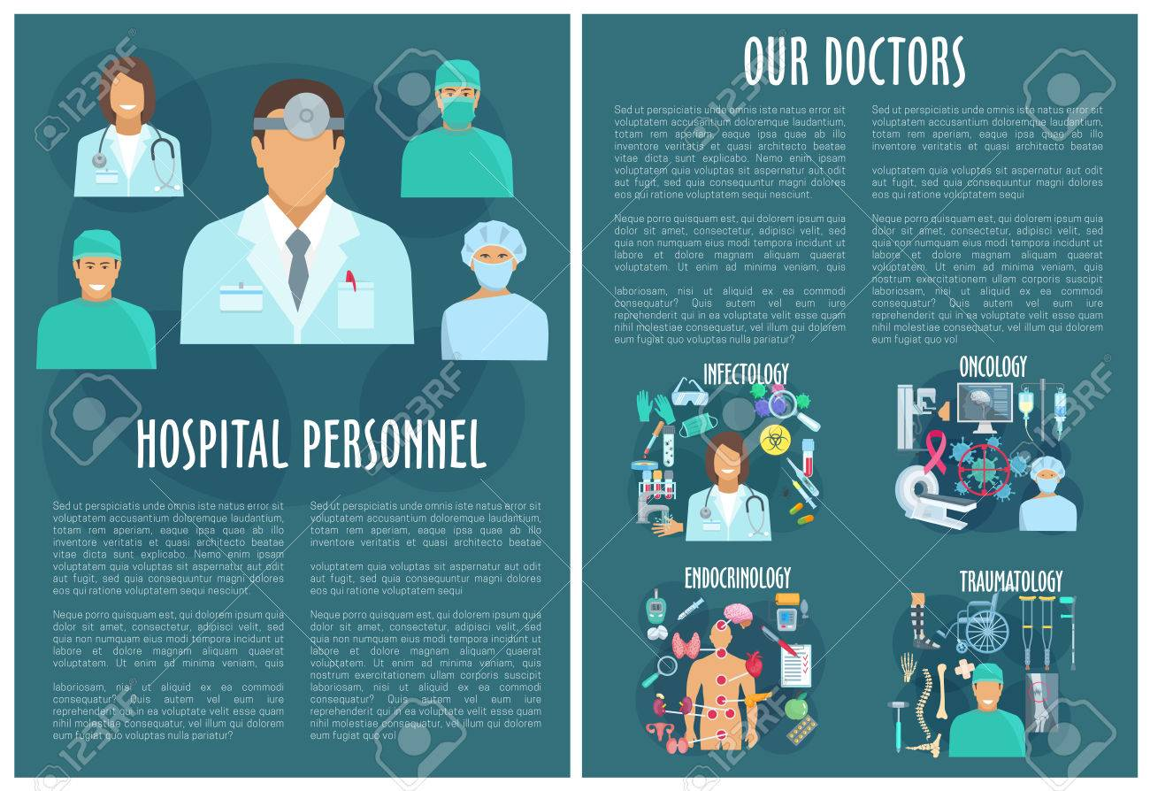 Medical Personnel Brochure Template With Doctor Royalty Free ...