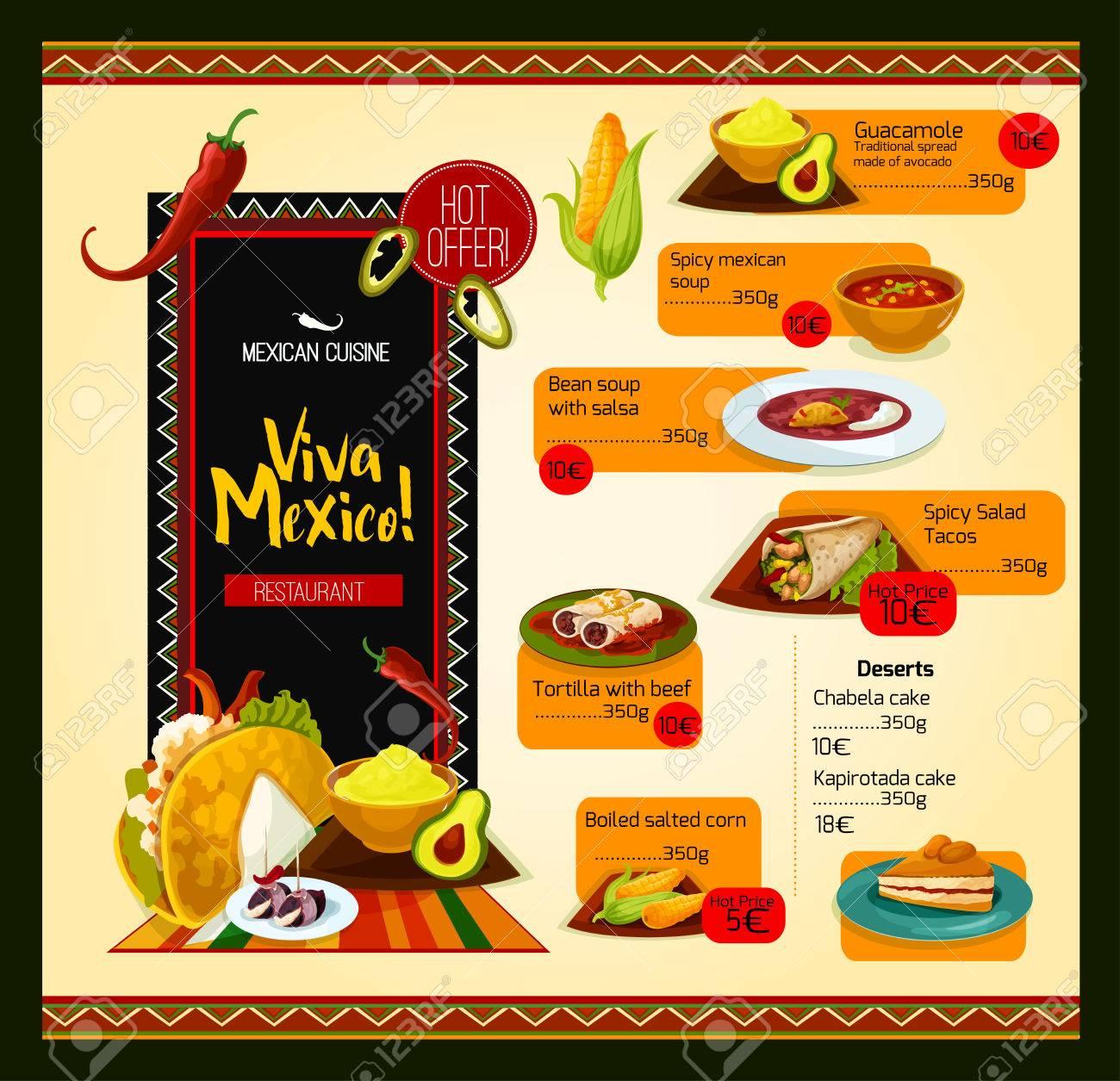 Plantilla De Vector De Menu Mexicano Para El Restaurante Ilustraciones Vectoriales Clip Art Vectorizado Libre De Derechos Image 75651358