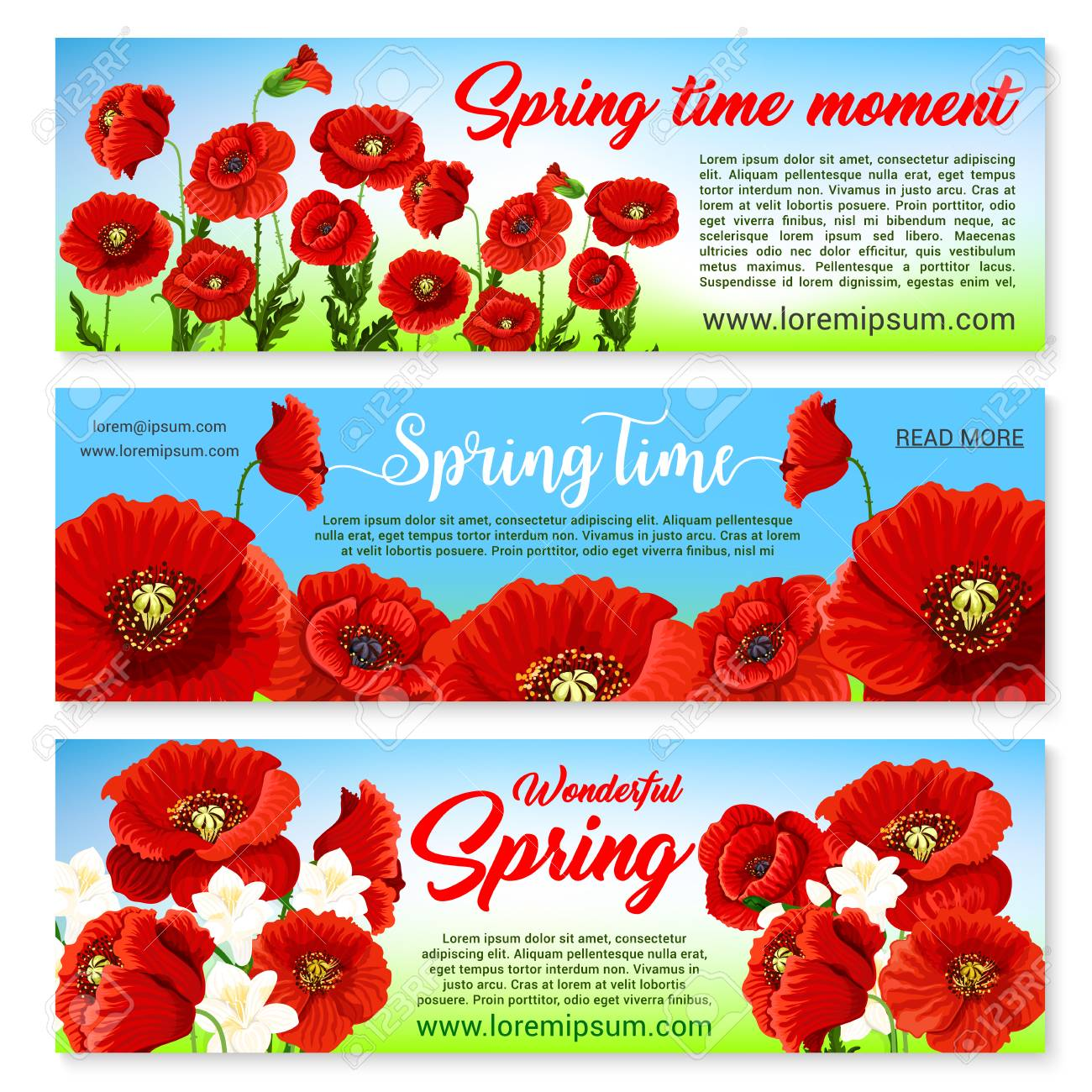 Happy spring banners set templates with holiday greetings and happy spring banners set templates with holiday greetings and quotes springtime nature design of blooming mightylinksfo