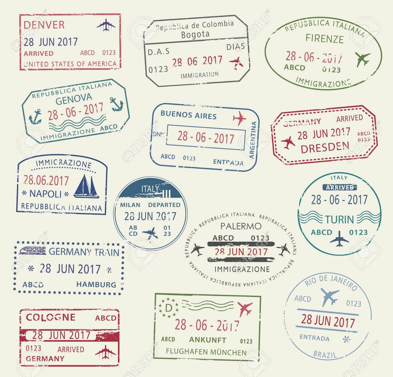 Visa passport stamp symbol set for travel design royalty free visa passport stamp symbol set for travel design stock vector 77243585 biocorpaavc Choice Image
