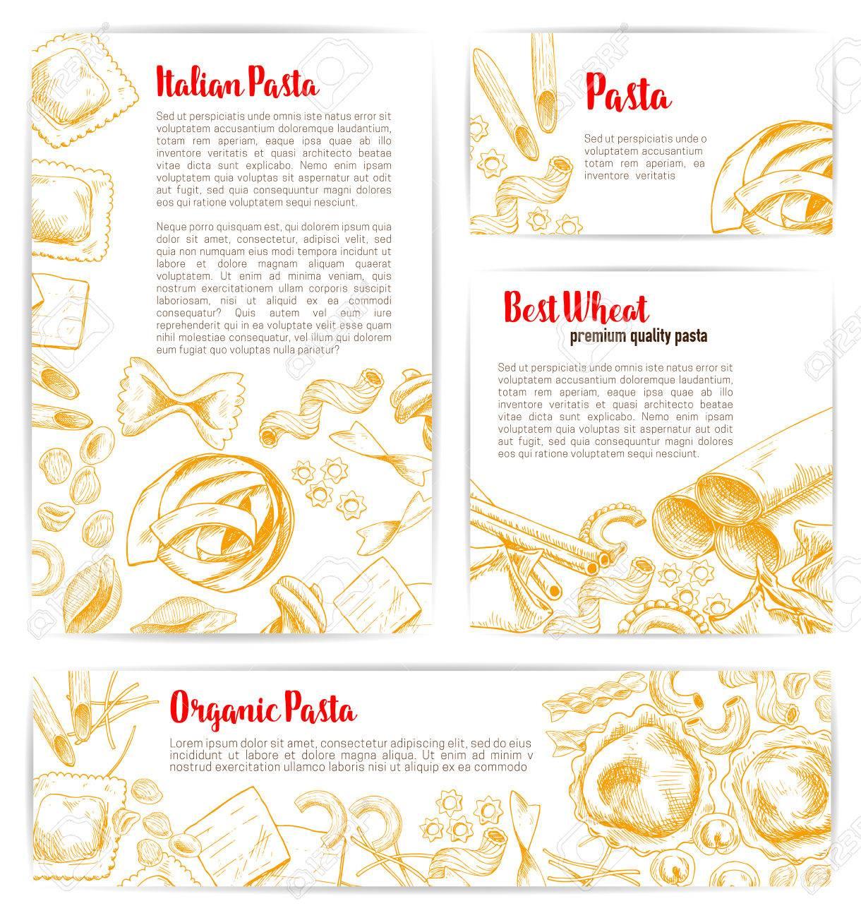Italienische Pasta, Natürliche Bio-Makkaroni Produkt Poster Und ...