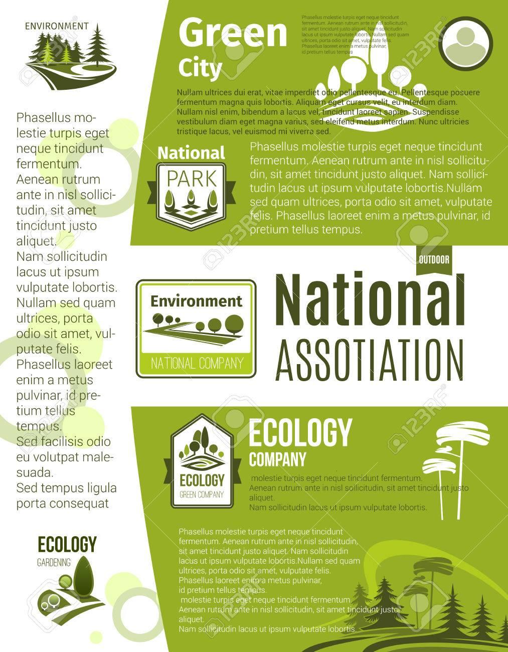 Ciudad Verde, Eco Empresarial, Ecología Jardinería Y Plantilla De ...