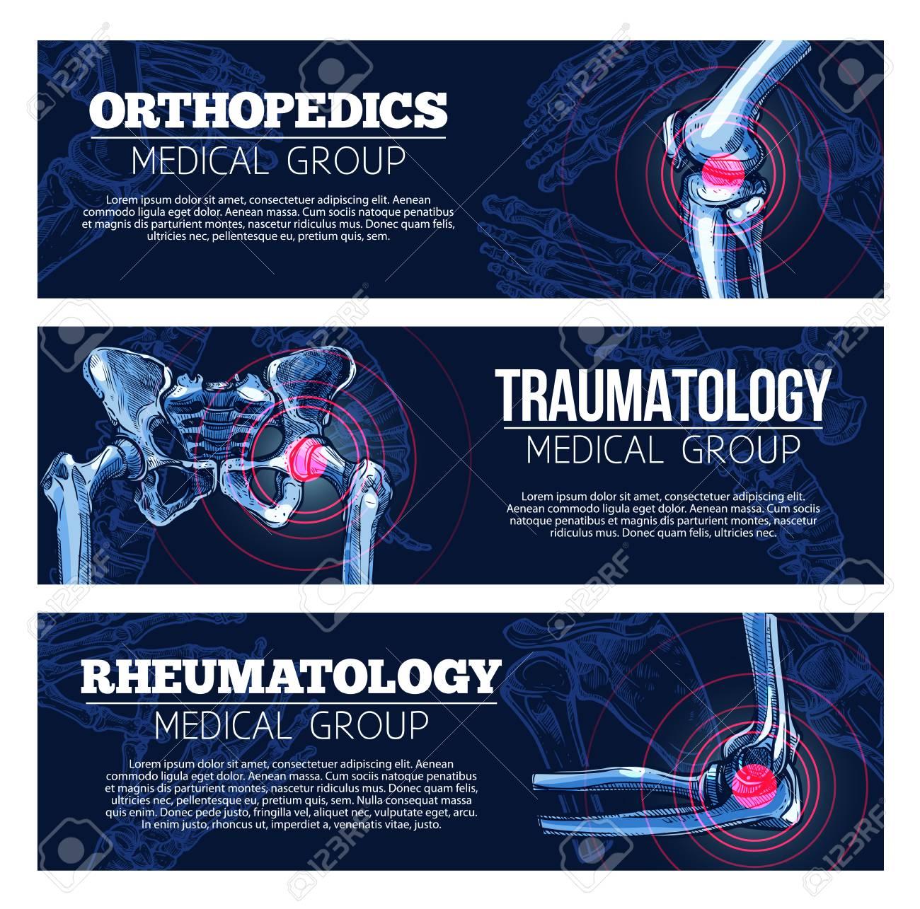 Medical vector banners orhtopedics, traumatology - 81227232