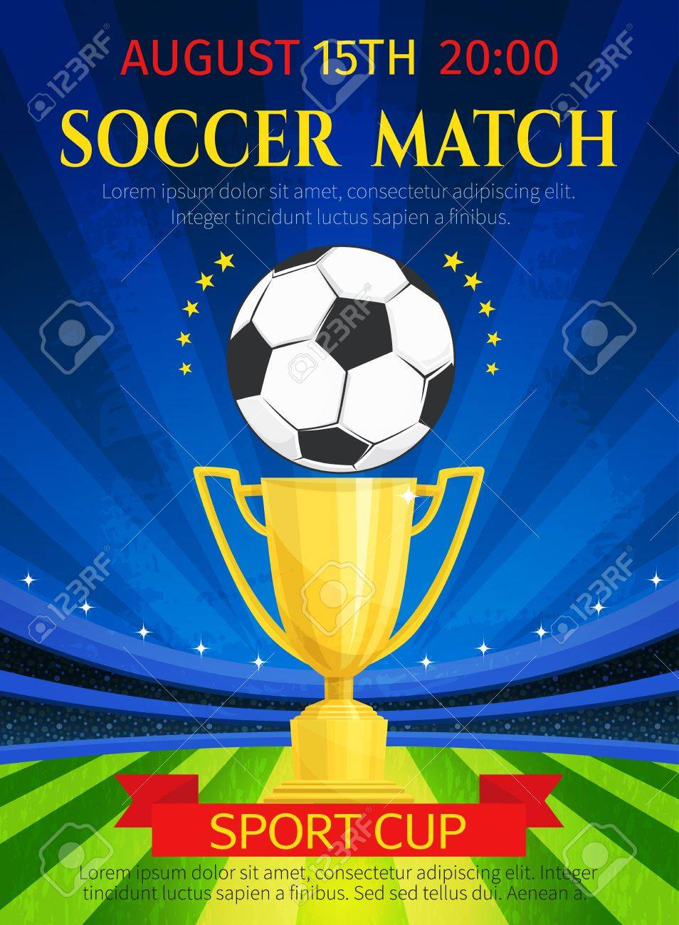 Vector Poster For Soccer Match Championship Royalty Free Cliparts