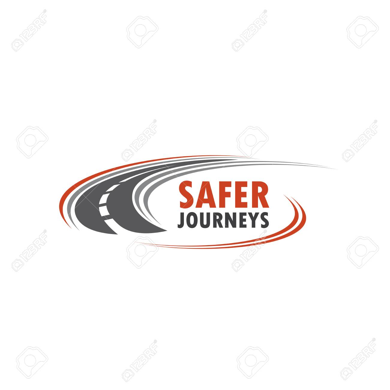 Road vector icon for safety journey - 82150173