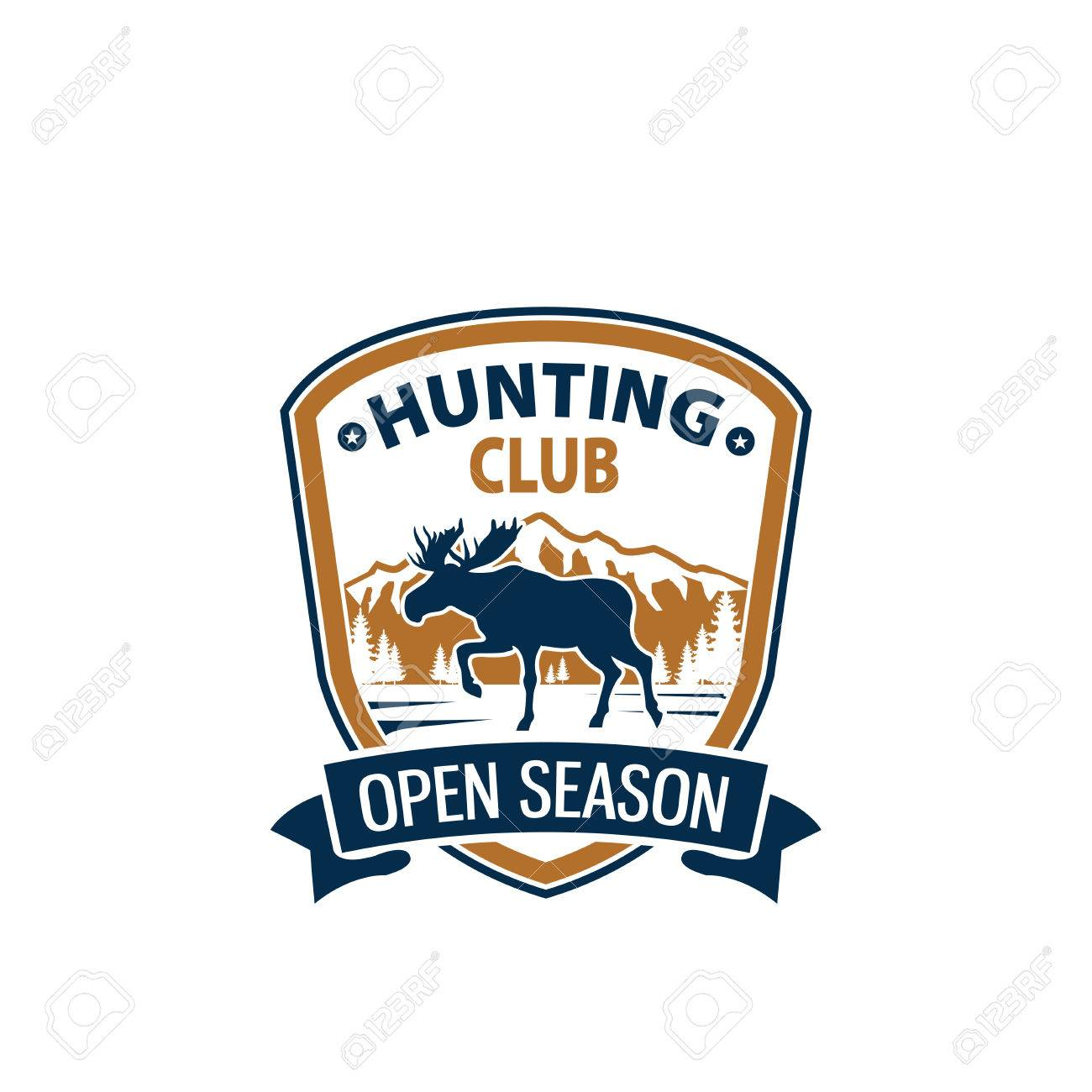 Open Season Animal Vector Icon For Hunting Club Royalty Free