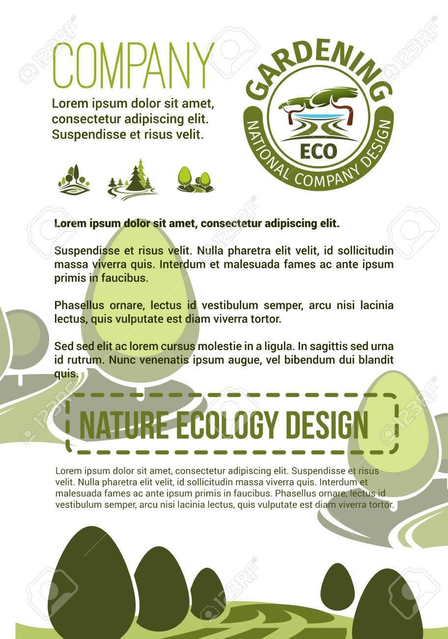 Cartel De Empresa De Jardinería O Paisajismo Para La Asociación De ...
