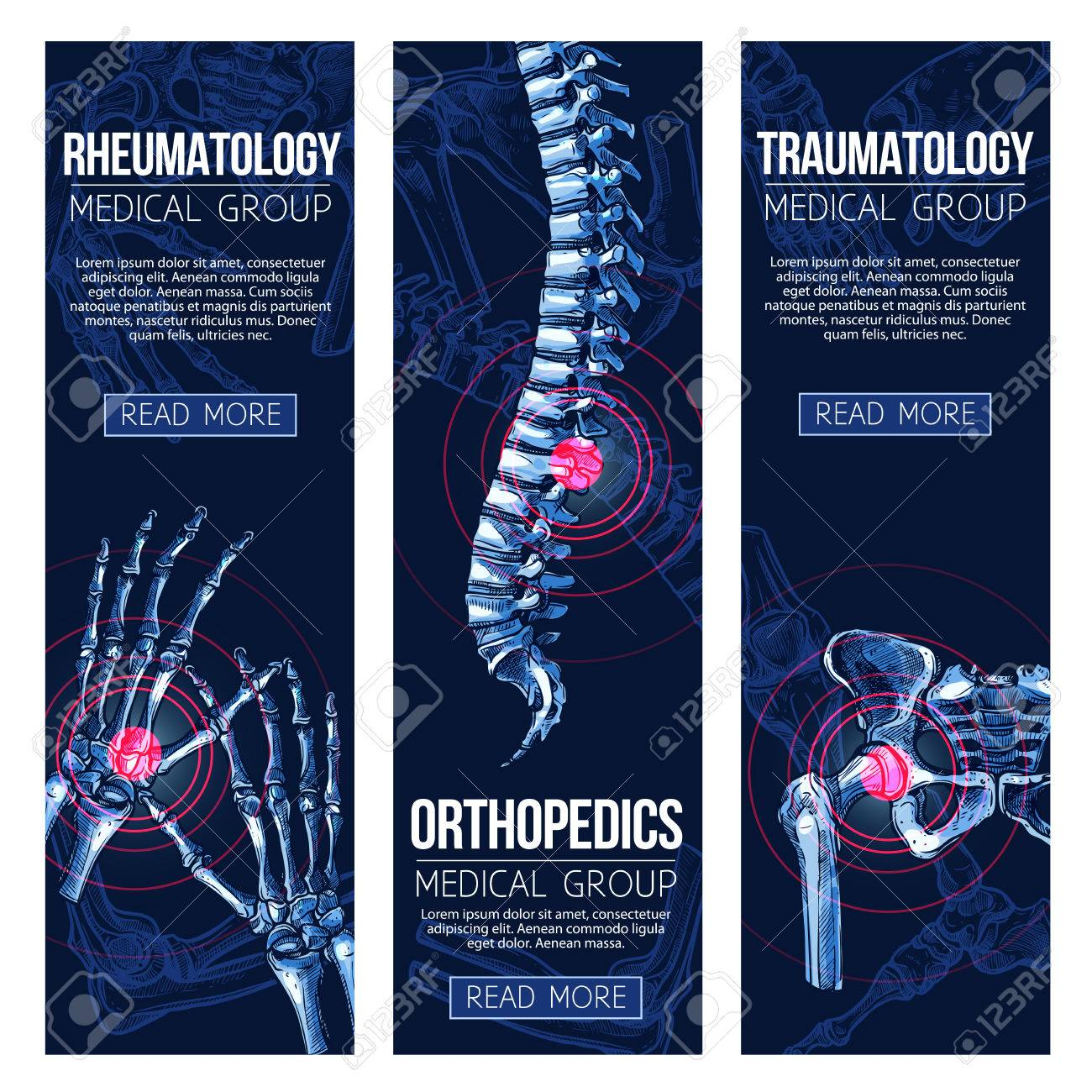 Medical banners for rheumatology and traumatology - 84969612