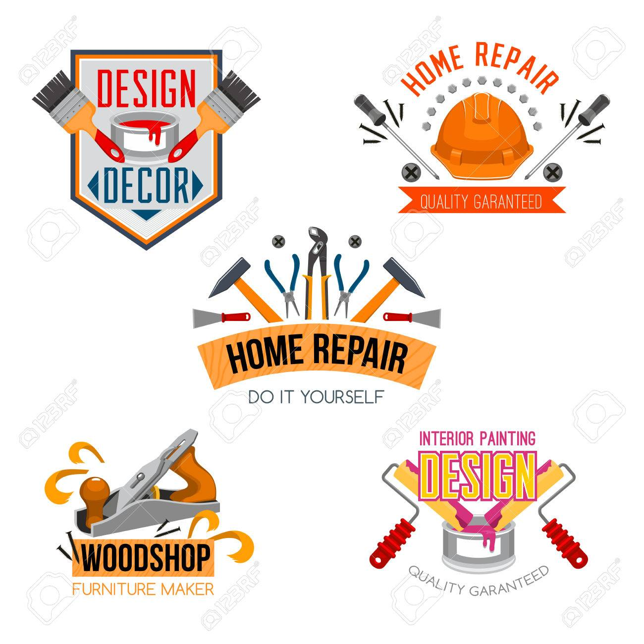 Work tools icons set for home design and house repair vector work tools icons set for home design and house repair vector isolated symbols of paint buycottarizona Image collections
