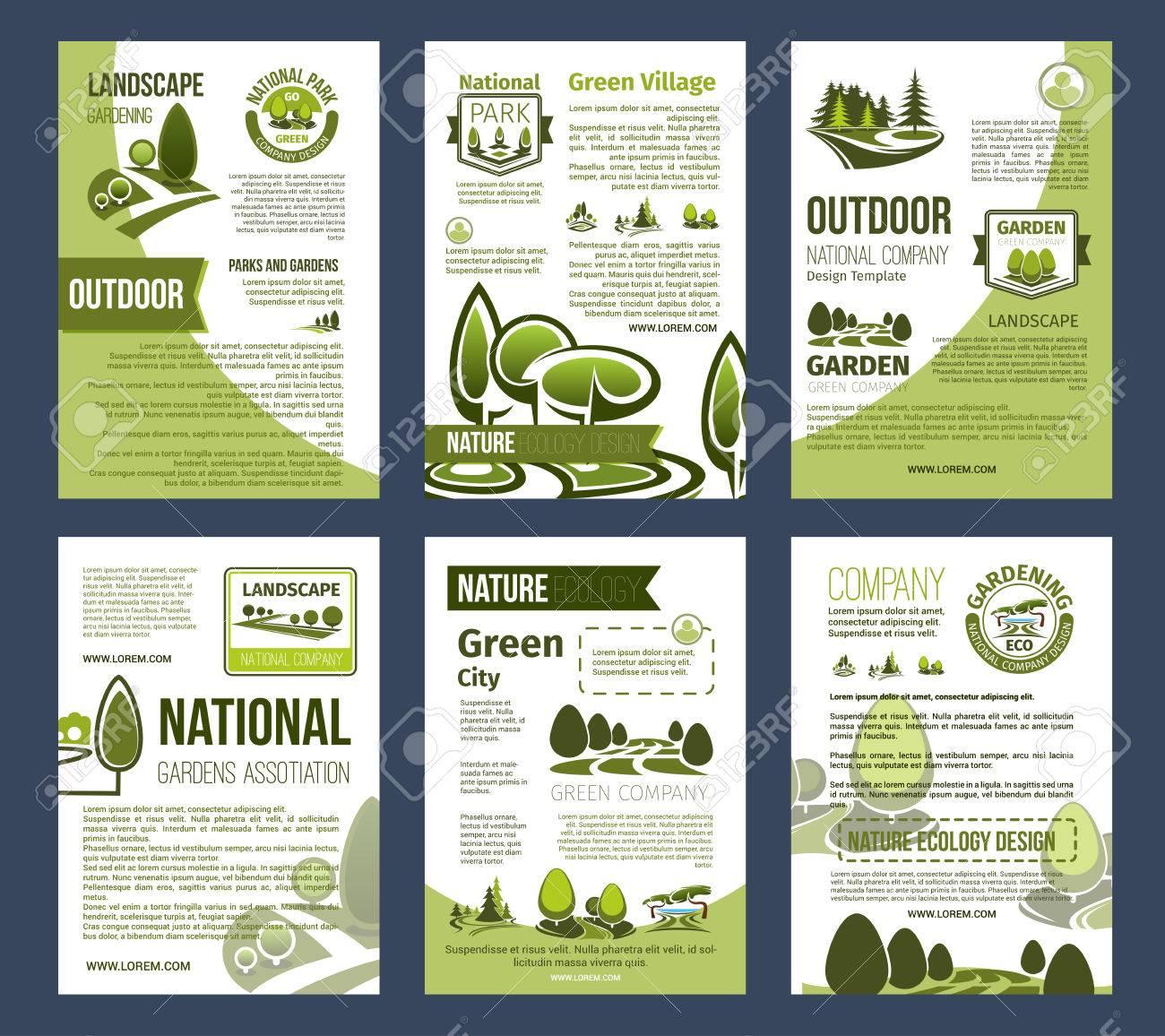Conjunto De Carteles Ecológicos Para El Diseño Del Medio Ambiente ...