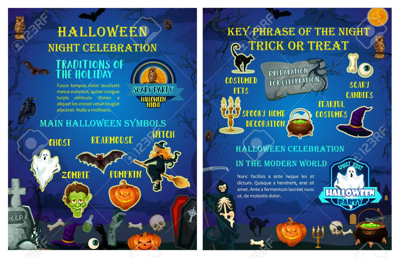 Tradities Halloween.Halloween Holiday Celebration Traditions Poster
