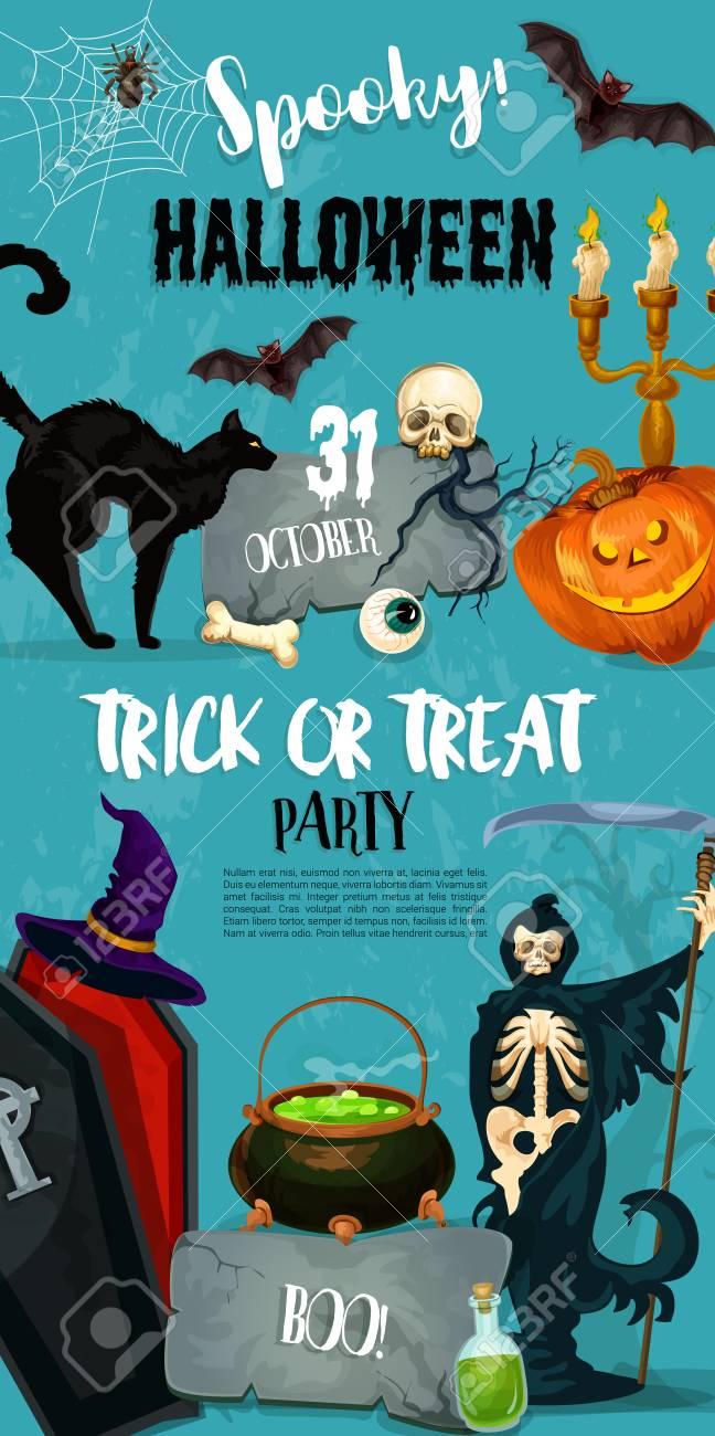 Halloween-Süßes Sonst Gibt\'s Saures Parteieinladungsplakat Der ...