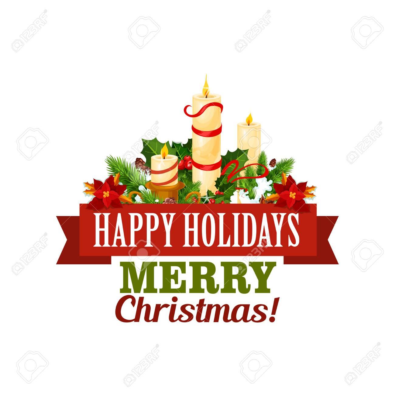 Christmas Holidays Icon.Merry Christmas Holiday Vector Greeting Card Icon