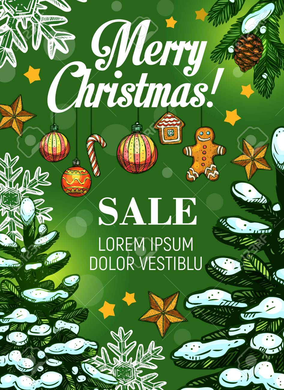 Christmas sale and New Year discount offer banner - 88317647