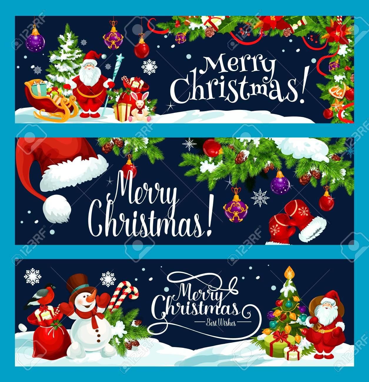 Frohe Weihnachten Und Beste Wunsche Gruss Banner Design Vorlage