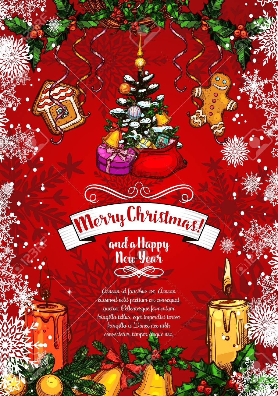 merry christmas and happy new year wishes sketch greeting card royalty free cliparts vectors and stock illustration image 88461486 merry christmas and happy new year wishes sketch greeting card