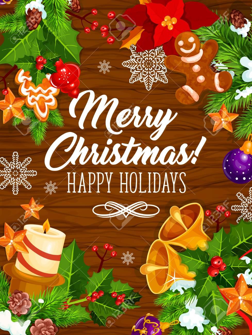 Weihnachtsfeier-Geschenke Vektor-Grußkarte Lizenzfrei Nutzbare ...