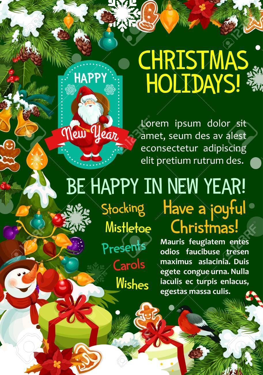 Merry Christmas Wishes Greeting Cards.Merry Christmas Wish Greeting Card For Winter Happy Holidays